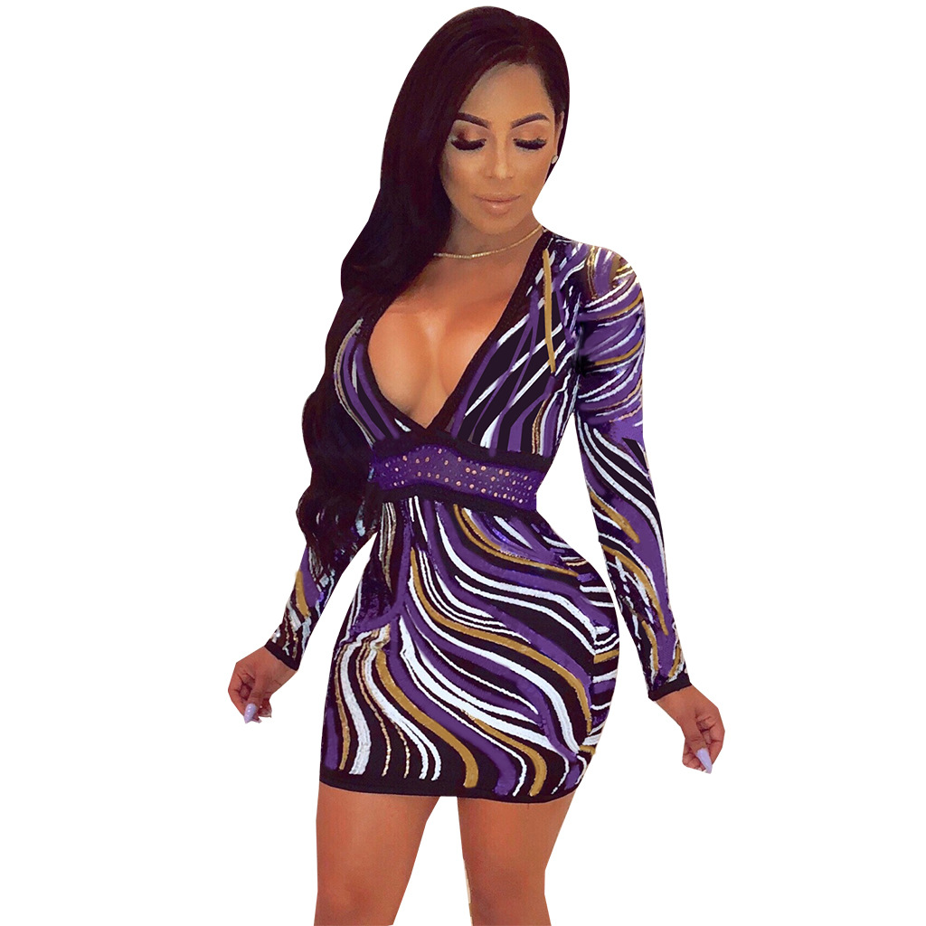 597bd97678e9 Detail Feedback Questions about Sexy Zebra Printed Bodycon Dress ...
