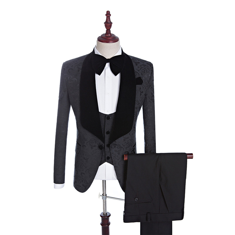 BLIKEMOL Groomsmen Groom Tuxedos Men Suits Wedding Blazer