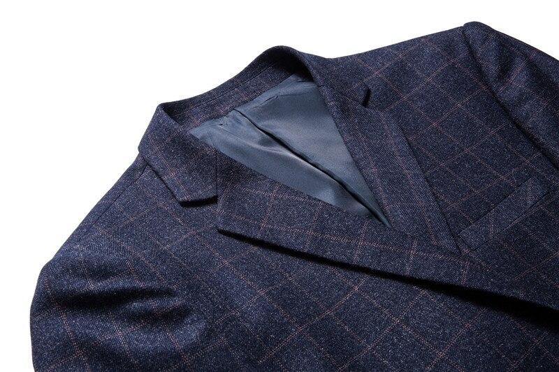 Blue Costume Carreaux Qualité Vie Printemps Nouvelle Occasionnels De Mince Gent Navy Pour Blazer Mode Bleu À Haute Marque Marine Robe Hommes D'affaires 1YHnfPdHq
