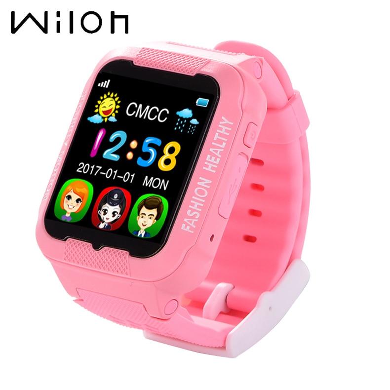 Kids Watches Smart GPS Tracker Clock Kids Bare Waterproof 2.5D Touch Screen Bluetooth Camera Call SOS Location Smart Watches