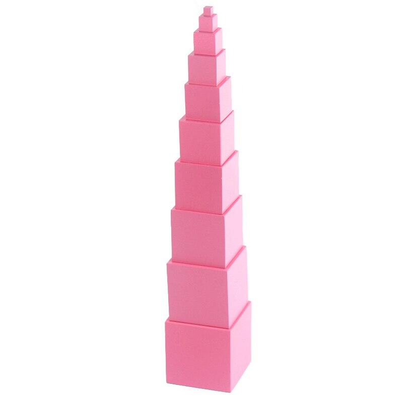 Juguetes Montessori Matemáticas de madera de alta calidad Pink Tower - Educación y entrenamiento - foto 5