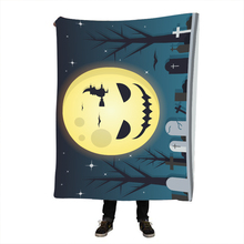 Halloween Moon Sherpa Blanket Throw Blankets Black and White Cute Pandas Bed Crystal Velvet Fleece TV