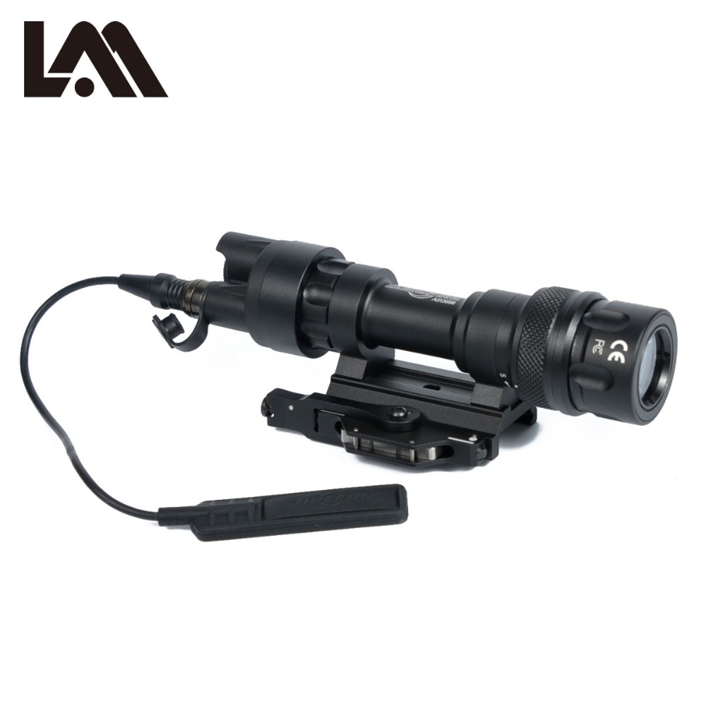 LAMBUL M952 M952V QD Quick Release Tactical Rifle Flashlight Mount Weapon Light 400 Lumens for Hunting Accessories element airsoft hunting military led weapon light flashlight pocket for rifle m952v gun tactical black 180 lumens ex 192
