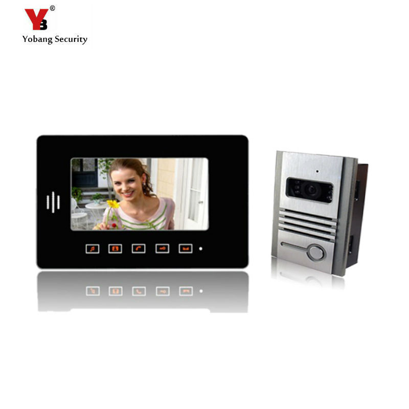 Yobang Security 7 Monitor Video Door Phone Intercom system video doorbell camera Video intercom door phone 1 Camera+1 Monitors jeatone 7 lcd monitor wired video intercom doorbell 1 camera 2 monitors video door phone bell kit for home security system