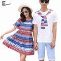 Playa de verano ropa de Sport Para Los Amantes de Los Hombres Y Parejas de Mujeres ropa de Fiesta Lindo Dulce Tops de Impresión de Corea Matching Couple T camisas