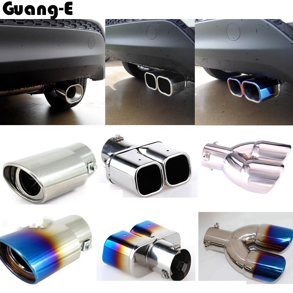 цена на Car frame muffler exterior end pipe dedicate stainless steel exhaust tip tail outlet 1pcs for Hyundai Tucson 2015 2016 2017