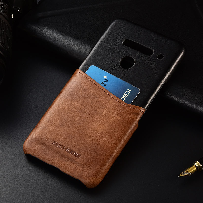 Case for LG V50 ThinQ KEZiHOME Two Colors Genuine Leather Hard Back Cover For LG V50 with Card PocketCase for LG V50 ThinQ KEZiHOME Two Colors Genuine Leather Hard Back Cover For LG V50 with Card Pocket