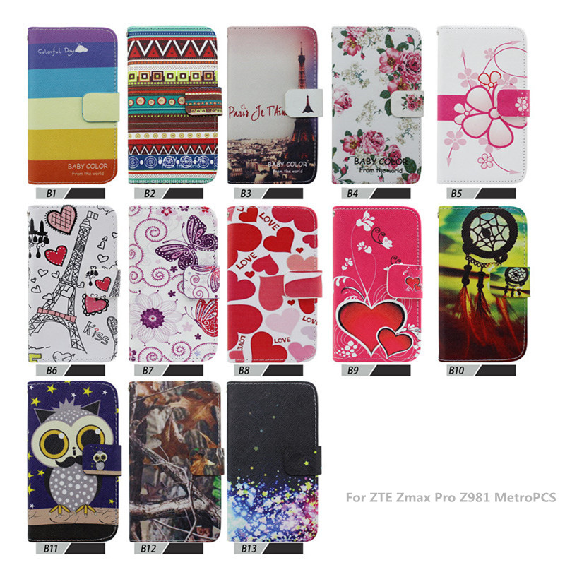 best sneakers 69fae 7c151 PU Leather flip wallet phone case For ZTE Zmax Pro Z981 MetroPCS leather  case,,High Quality-in Wallet Cases from Cellphones & Telecommunications on  ...