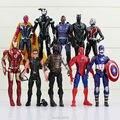 10 шт./компл. мстители капитан америка 3 действий-цифры супер герой паук муравей человек железный человек коллекция игрушек
