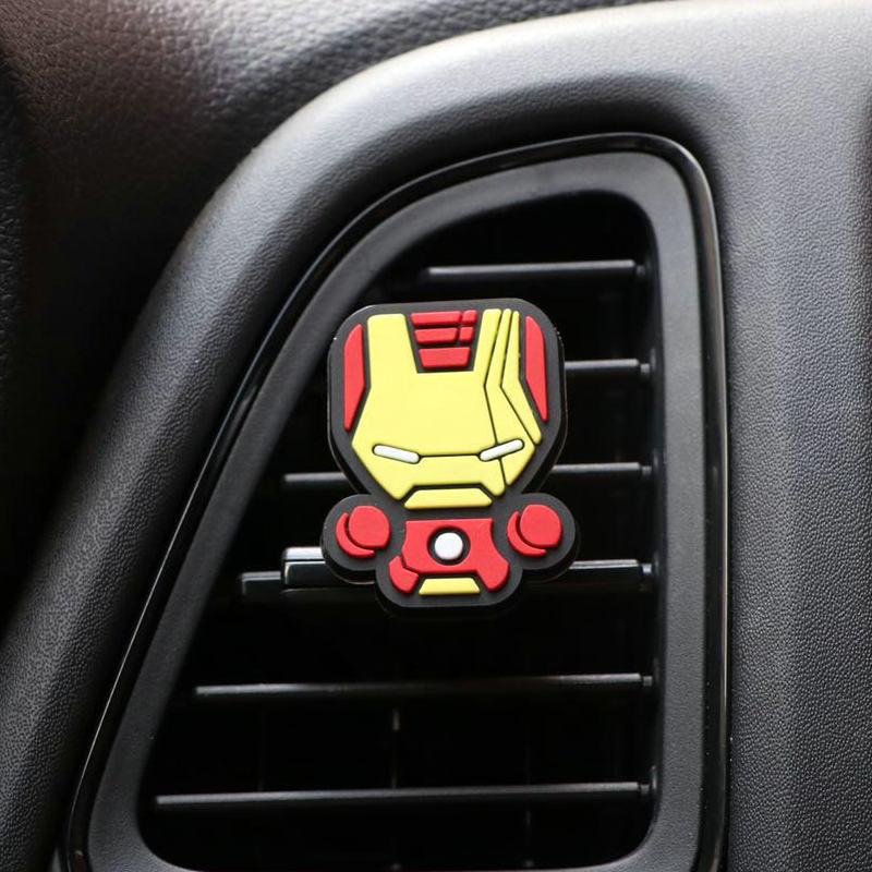 Освежитель воздуха с героями мультфильмов, автомобильный Стайлинг, духи, Мстители, Marvel, стиль для кондиционера, Вентиляционный Выход, Супермен, Бэтмен, модный, крутой - Название цвета: Ironman