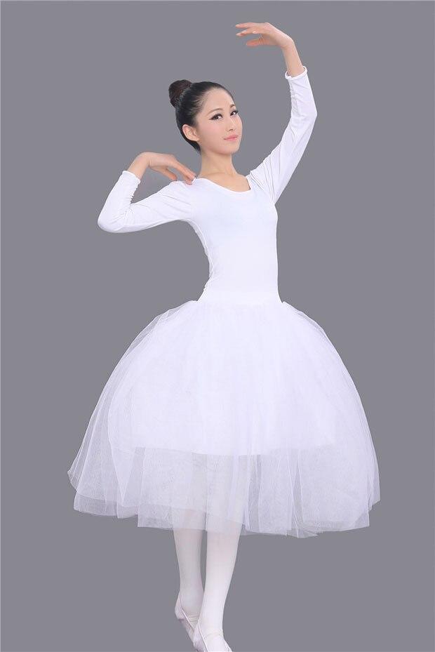 71f5ab7a6c Vestidos de tutú de Ballet para niñas con manga larga