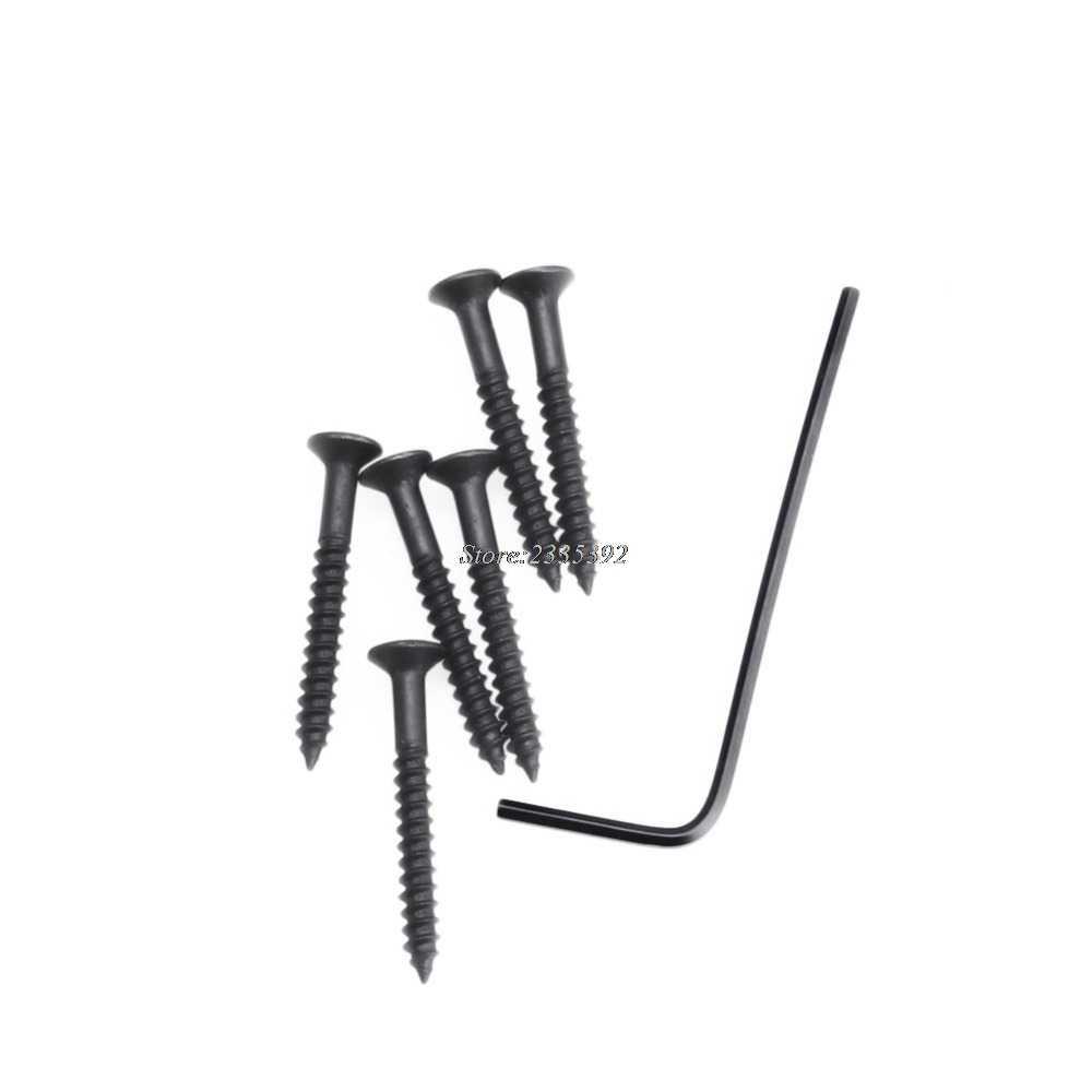 1 สีดำกีตาร์ไฟฟ้า Hardtail โหลดสะพาน 6 String FIXED Hard TAIL ชิ้นส่วน quehuo