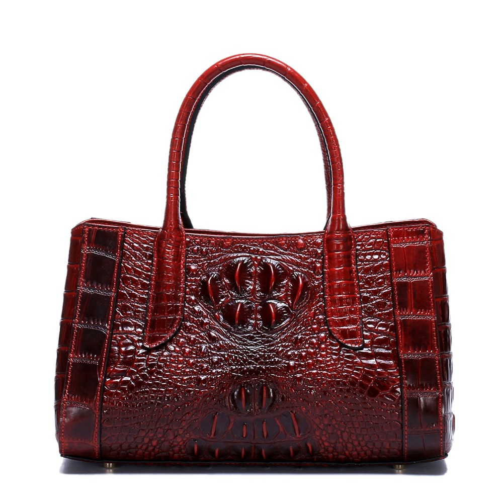 famous brand women handabag real leather bag female crocodile pattern women leather handbags genuine leather shoulder bags цена