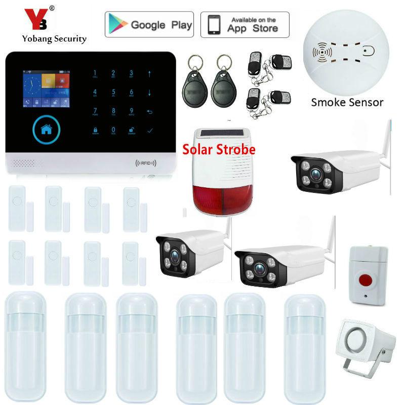 Spanish Italy French Dutch Voice WiFi 3G Intruder Alarm System Smart Home Security Alarm APP Control Video IP Camera Sensor