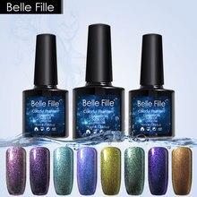 BELLE FILLE 3D Bling Chameleon UV/LED Gel Nail Manicure Varnish 10ml Long Lasting Soak off Color Varnish Black Coat Needed