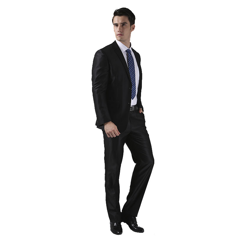 (Vestes + pantalons) 2016 nouveaux hommes costumes Slim personnalisé Fit smoking marque de mode Bridegroon entreprise robe de mariée costumes Blazer H0285 - 4