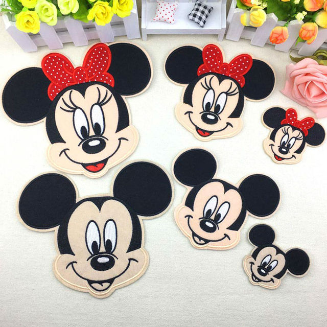 Minnie Mickey Iron On Patches