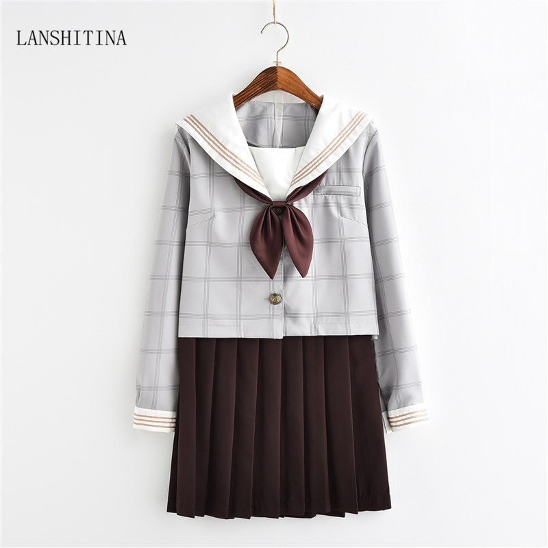 Lanshitina New Fashion Sexy Students Costumes Sexy School Students Costume Girl Halloween Outfit -9774