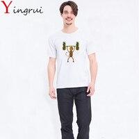 Casual White T-Shirt Modale Del Fumetto Bello Della Scimmia Paio di Stampa Top Tees Ananas Manica Corta O-Neck T Shirt