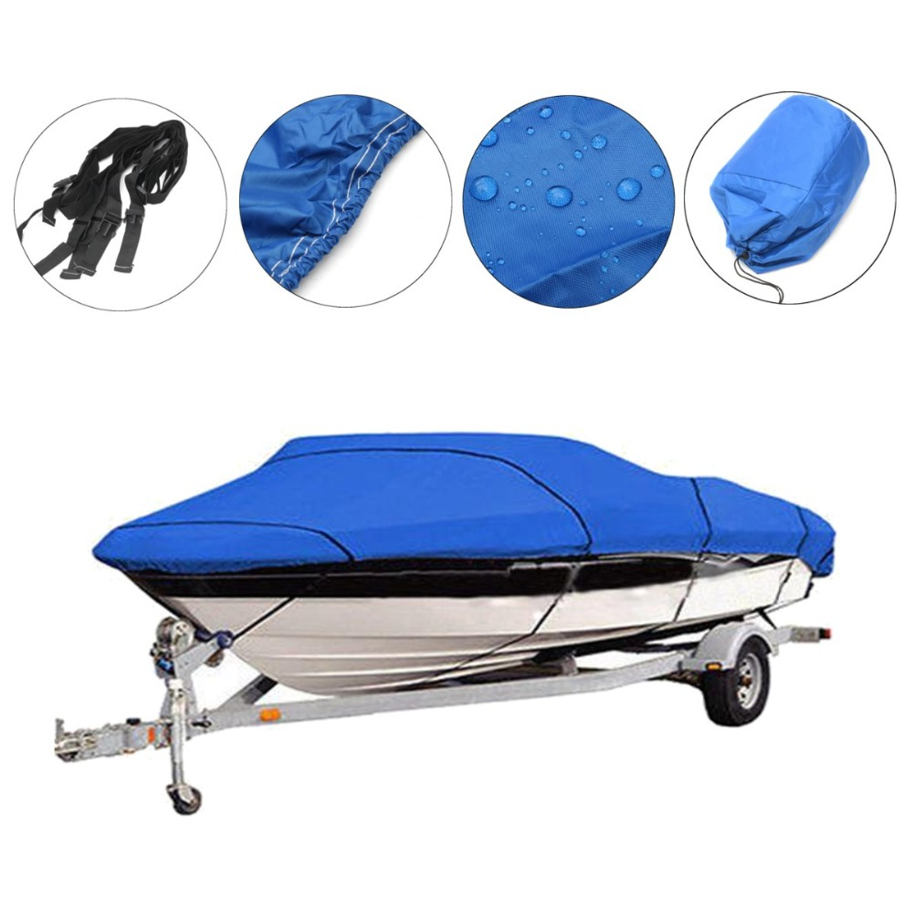 Boat-Cover Waterproof-Kit Fishing Ski V-Hull Blue Heavy-Duty 14-16-20-22-17-19-11-13-