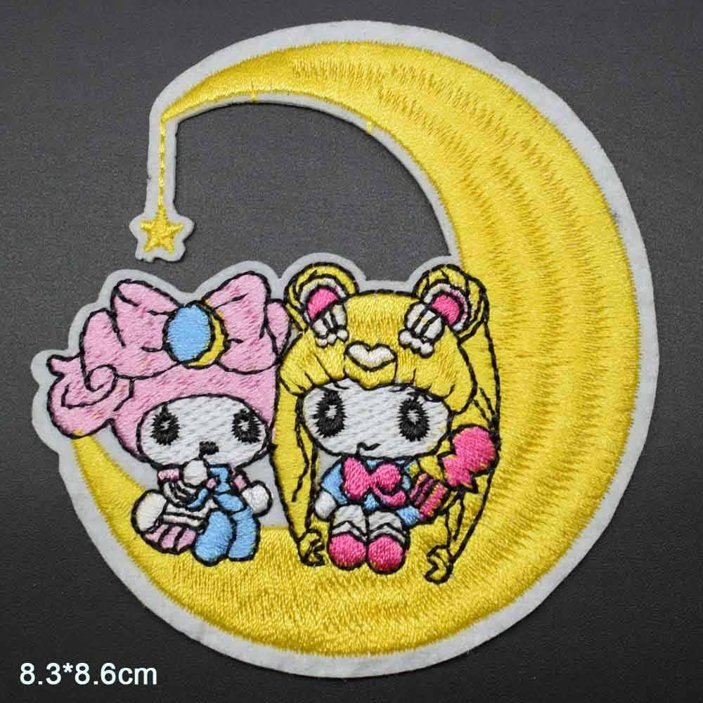 Duas Meninas Na Lua Anime Japonês Sailor Moon Ferro no Remendo de Pano Bordado Para As Meninas Meninos Roupas