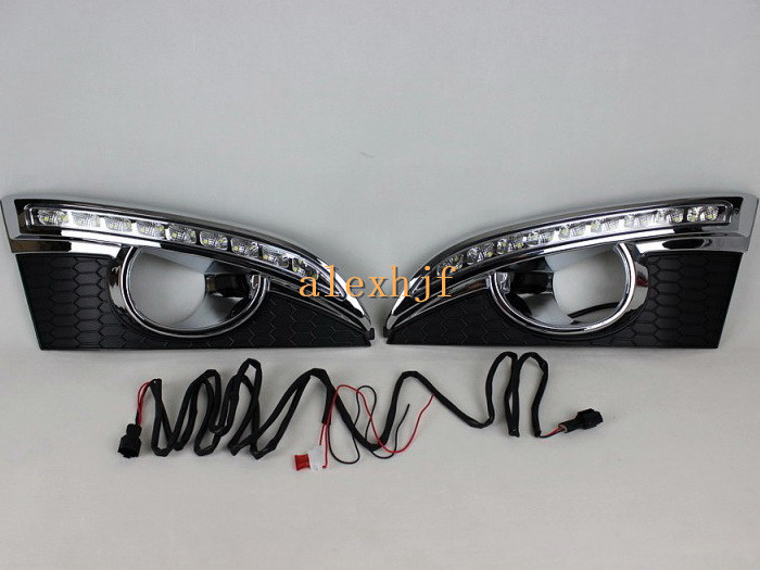 July King LED Daytime Running Lights DRL With Fog Lamp Cover, LED Fog Lamp case for Chevrolet Captiva SUV 2011-13, fast shipping july king led daytime running lights drl with fog lamp cover case for chevrolet malibu 2012 15 1 1 replacement free shipping