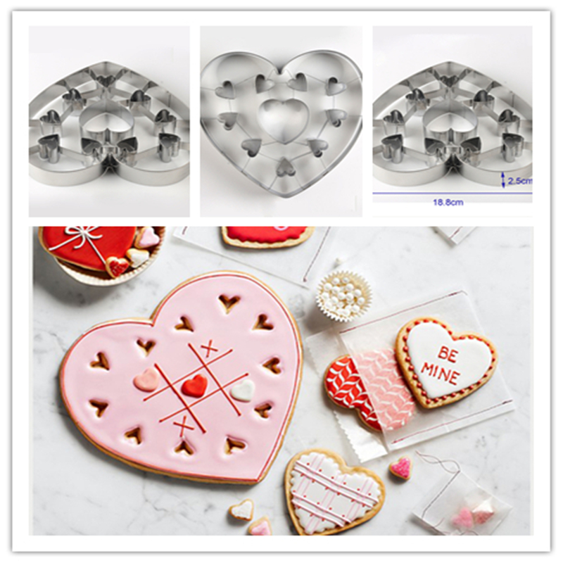 1 pcs Heart Shape Cookie Cutter Cake Decorating Tools Fondant Sugarcraft Candy Cupcake Biscuit Mold DIY Baking Tools