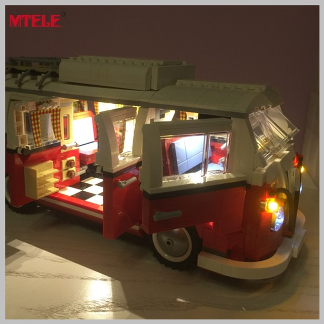 MTELE Brand DIY LED Light Up Kit For LEPIN 21001 Compatile with Lego 10220 Creator Series The T1 Camper Van Blocks Bricks Toys