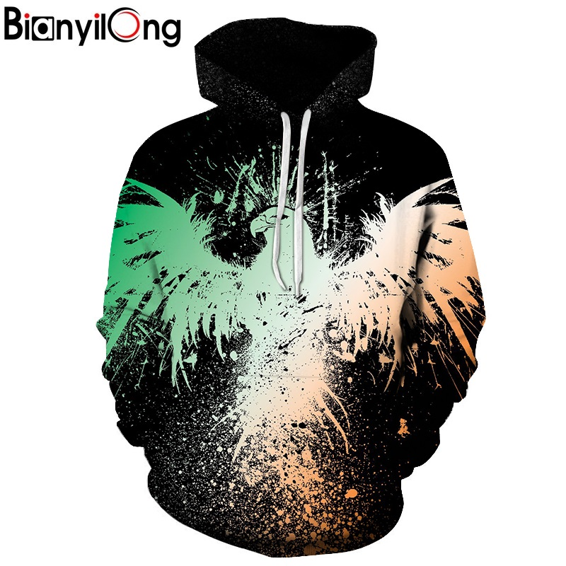 2018 New Arrival 3D Hoodies man Eagle Sweatshirt Men Women Streetwear Fashion Casual Outwear Hooded Pullover Hip Hop tops