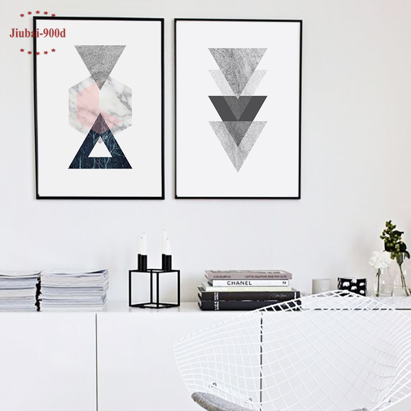 Nordic Style Vintage Geometric Canvas Arts