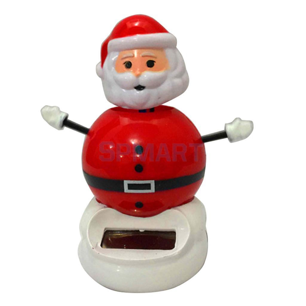 Kids Solar Powered Santa Claus Dancing Toy Car Home Ornament Decor Kids Xmas Gifts Gag Prank Toys