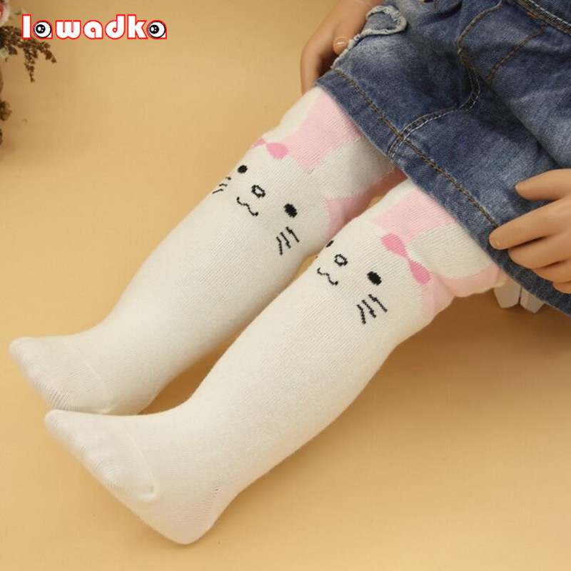 Cotton Knitting Baby Girls Tights Cartoon Rabbit Baby Tights For Girls Spring Style Soft Children Gifts rib knit tights
