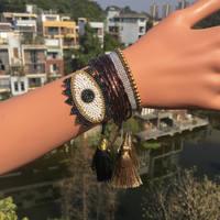 Go2boho сглаза браслеты MIYUKI браслет ювелирные изделия золотой бисер манжеты коричневый 2019 для женщин Handmad Delicas бисера Bileklik подарок