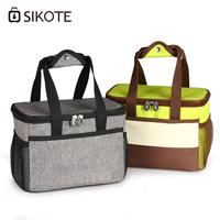 SIKOTE Lunch Box Dinner Picnic Food Bags Portable Insulation Fold Cooler Bag Chair Waterproof Thermo Office