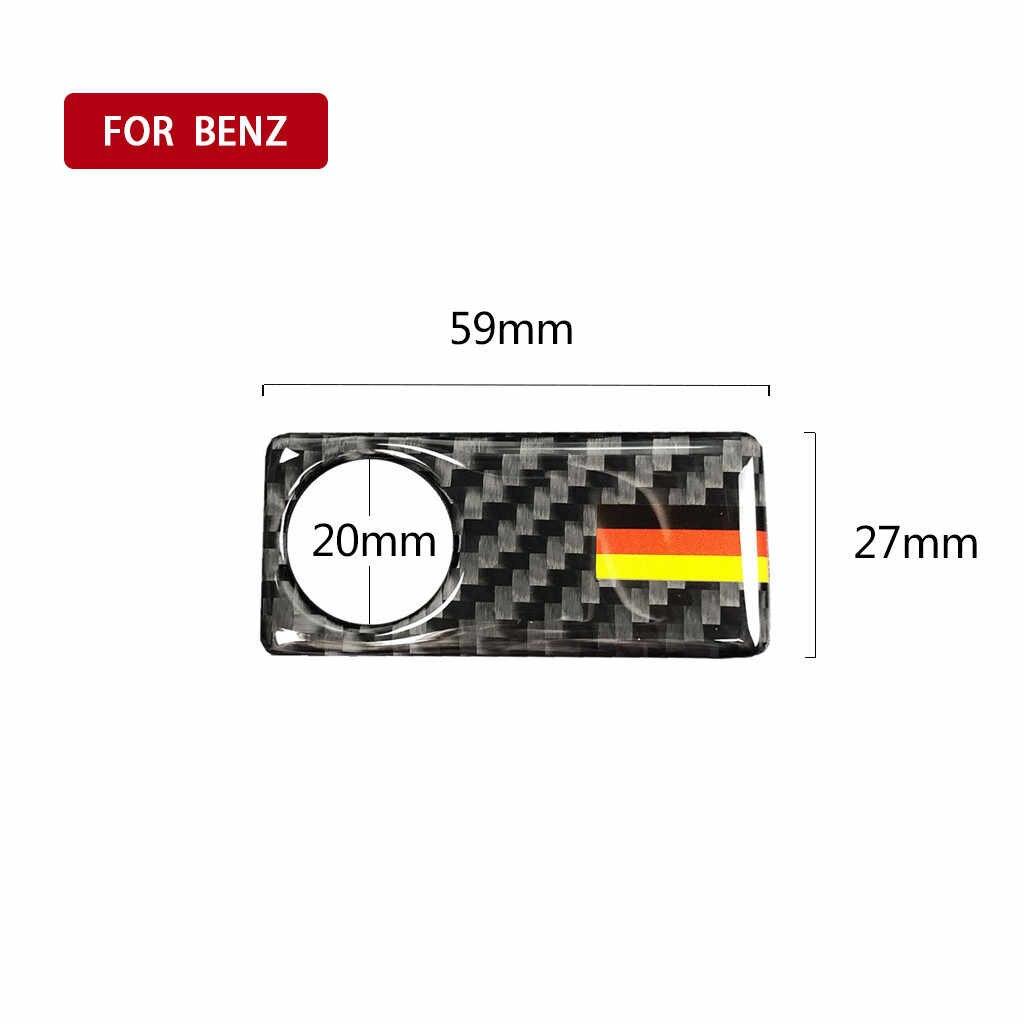 HOT Sale Carbon Fiber Door Handle Sticker Copilot Side Storage Trim Sticker For Mercedes Drop Shipping