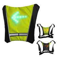 Высококачественные Светодиоды Велоспорт жилет 20L MTB велосипедная сумка Безопасный светодиодный световой сигнал поворота жилет велосипедн...