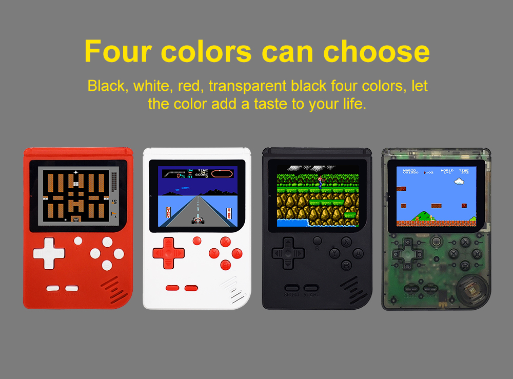 Video Game Console 8 Bit Retro Mini Pocket Handheld Game Player Built-in 280 Classic Games Best Gift for Child Nostalgic Player