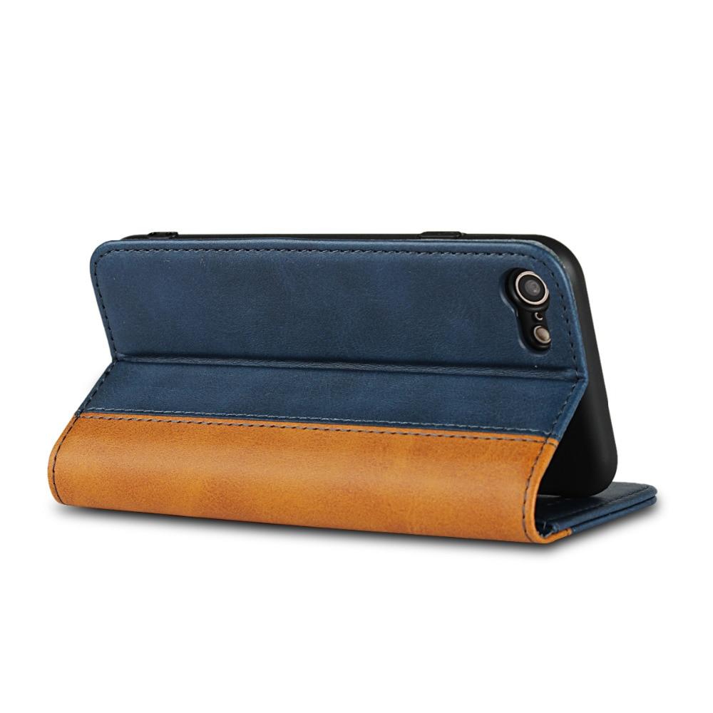 Etui Case For Iphone 7 6 6s 8 Plus X XS XR MAX Cases Luxury Flip Wallet Genuine Leather Magnetic 7Plus Funda Cover Coque Capinha