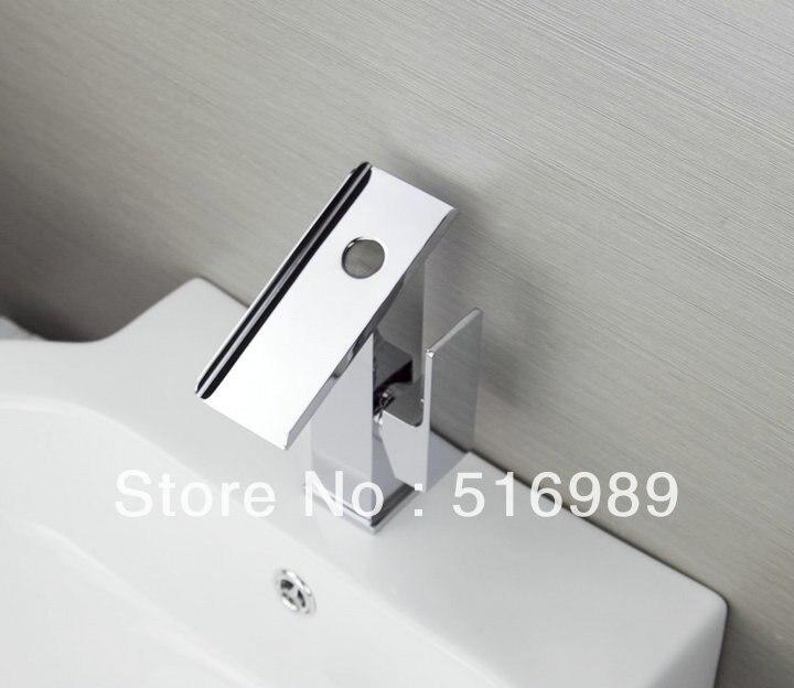 Здесь продается  Bathroom Chrome  Mount Single Hole Finish Faucet Waterfall Tap sam4  Строительство и Недвижимость