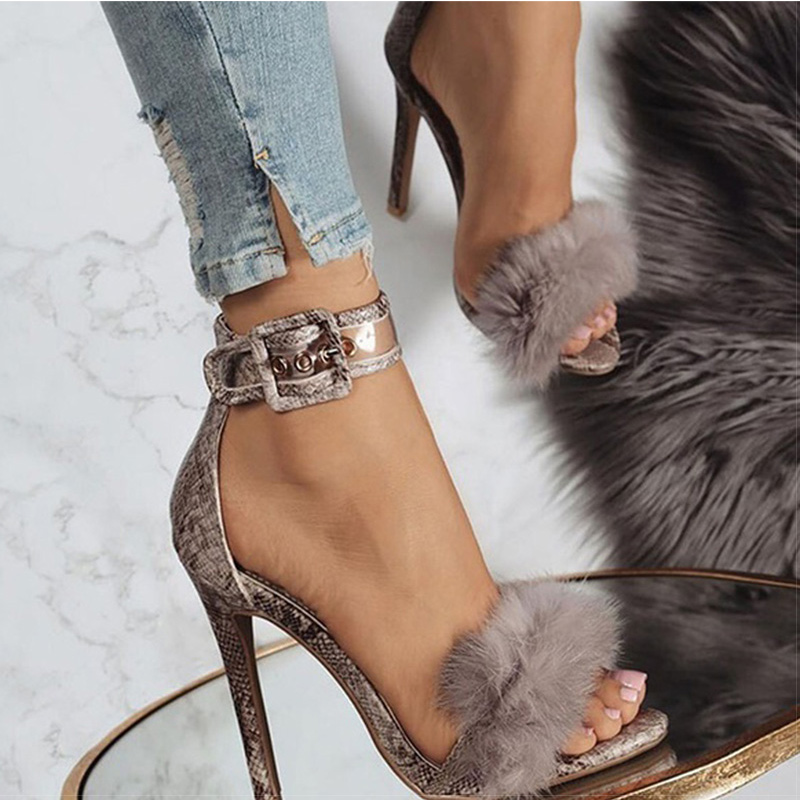 Women Pumps Sexy Summer Heels Sandals For Women Plus Size 34-43 High Heels 8cm Women Heel Shoes Black Chaussures Femme
