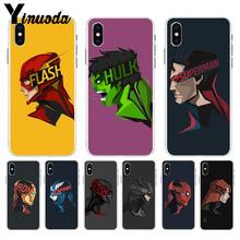 Yinuoda Marvel Spiderman Homem De Ferro Batman DIY Pintado a caixa Do Telefone Bonito para iPhone 8 7 6 6S Plus X XS max 10 5 5S SE XR Shell(China)