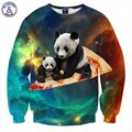 Mr.1991INC Harajuku Hot Sell Men/Women Hoodies Hip Hop Sweatshirt 3d Print Pizza Panda Space Galaxy Hoodies Brand Clothing