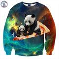 Mr.1991inc harajuku venda quente dos homens/mulheres hoodies hip hop moletom 3d impressão de pizza panda espaço galaxy hoodies roupas de marca