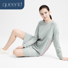 Nightgown Sleepwear Lounge Home-Service Female Cotton Stripe Color-Block 100%At