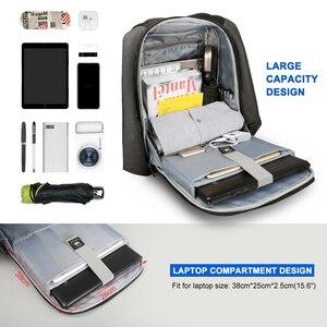 Image 2 - Tigernu Splashproof Anti Theft Mens Backpacks 15.6inch Laptop Notebook USB Backpack for Teenage Women Male Mochila