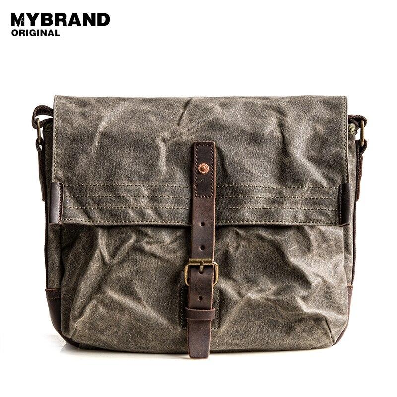 MYBRANDORIGINAL messenger bag men s single shoulder bag high quality wax  canvas bag for man casual crossbody bags B81 948e73768417d