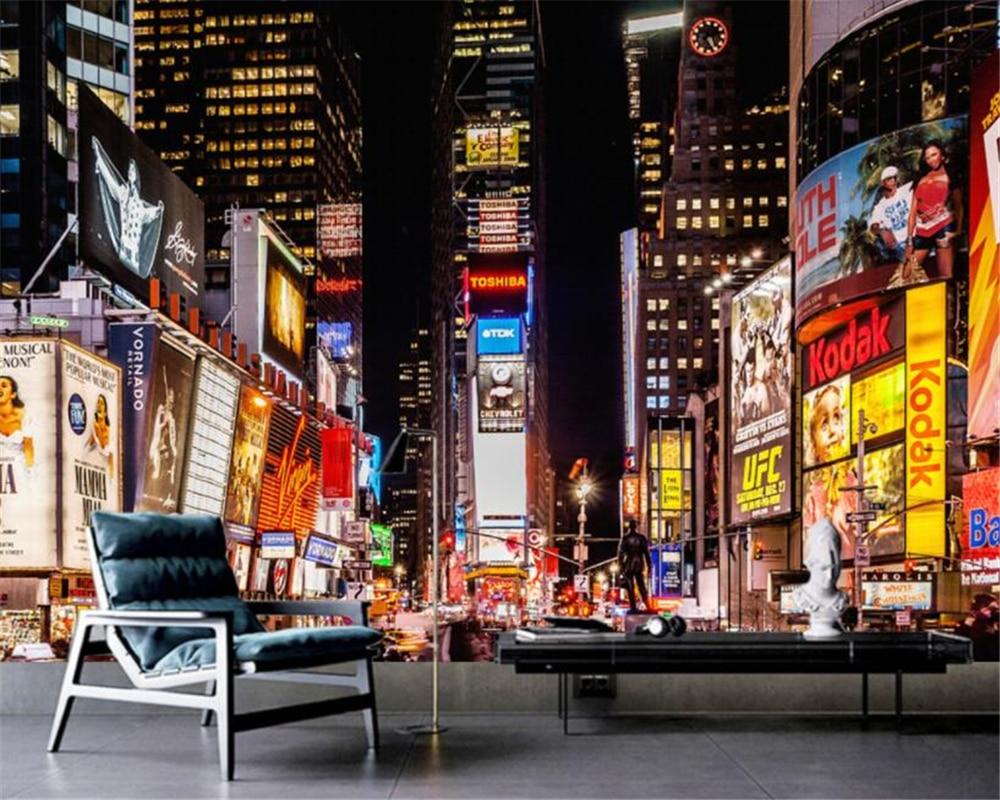 Beibehang пользовательские высокое качество 3D фото обои роспись Европейский ретро город ночное украшение KTV Настенные обои для стен 3 d