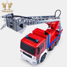 Fire-Engine RC Car Fire Engine Truck Toys Diecast with Water-tank Lorry/Ladder for Birthday Children