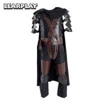 Берсерк кишки Броня Косплэй Хэллоуина боевой костюм для взрослых человек с плащом наколенники полный набор аксессуаров