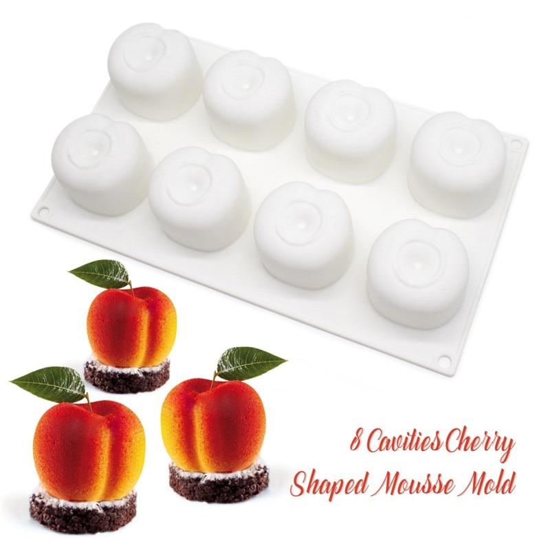 SHENHONG Cherry Silicone Mousse Mold DIY Peach Cake Mold Baking Moule - Dapur, makan dan bar - Foto 2